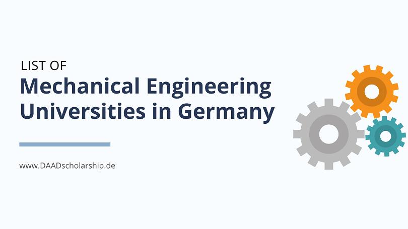 List of Mechanical Engineering Universities in Germany