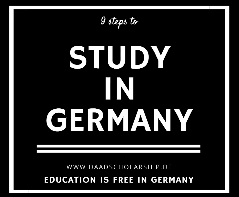 9 steps to study in Germany