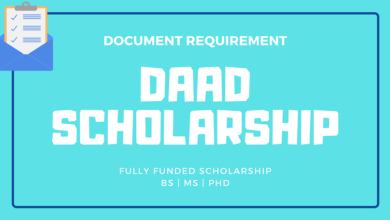 Photo of Documents for DAAD Scholarship Application in 2021-2022