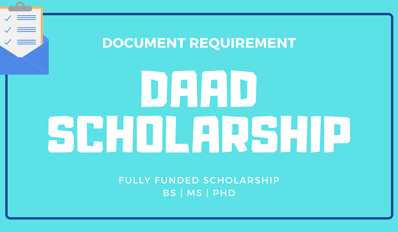 Photo of Documents for DAAD Scholarship Application
