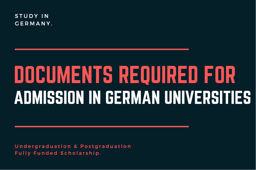 list of Documents required for admission in German Universities