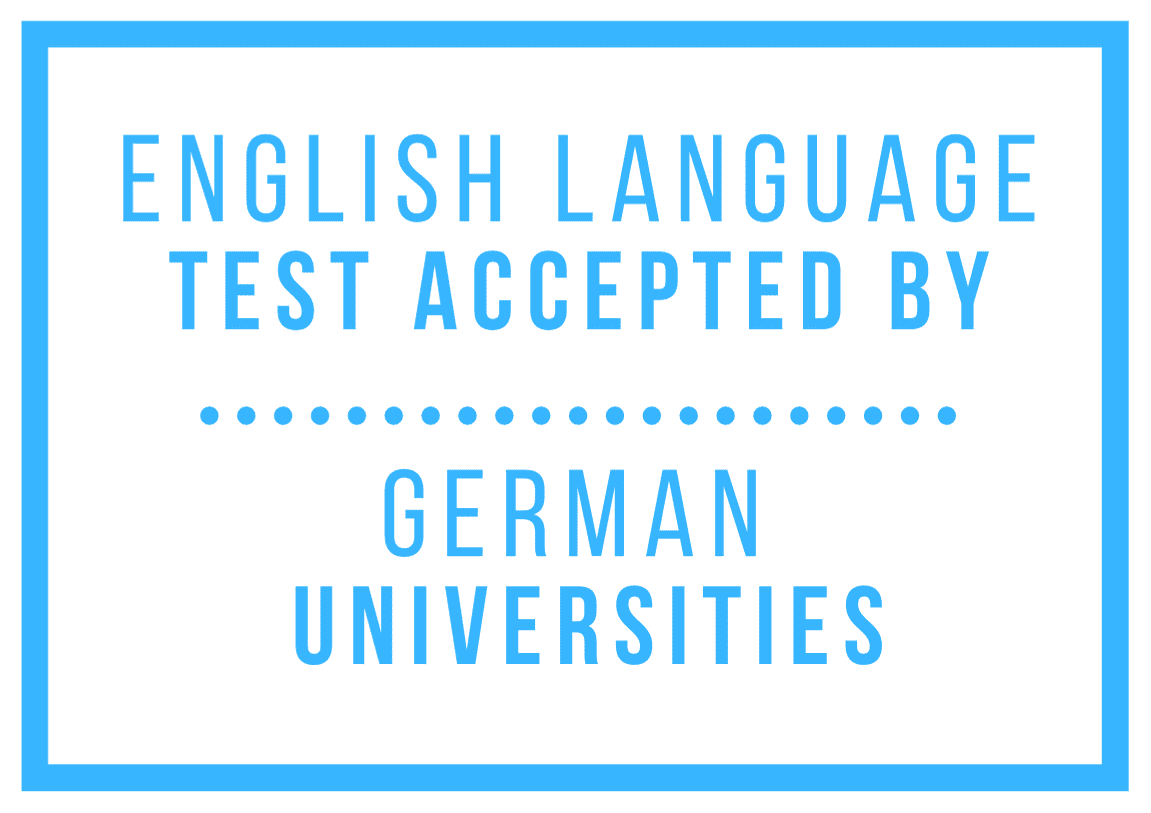 list of English Language Tests Accepted by German Universities