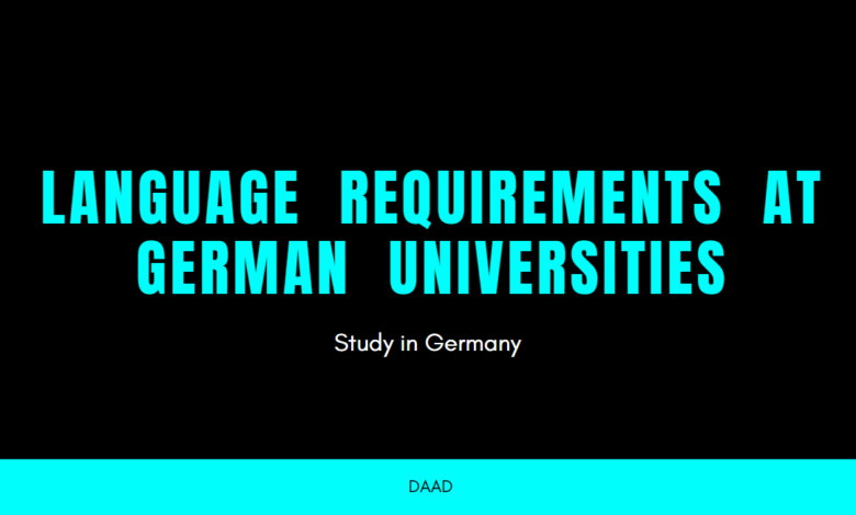 Photo of English or German language Requirements in German Universities
