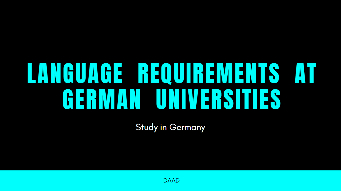 German or English Language requirements at German Universities