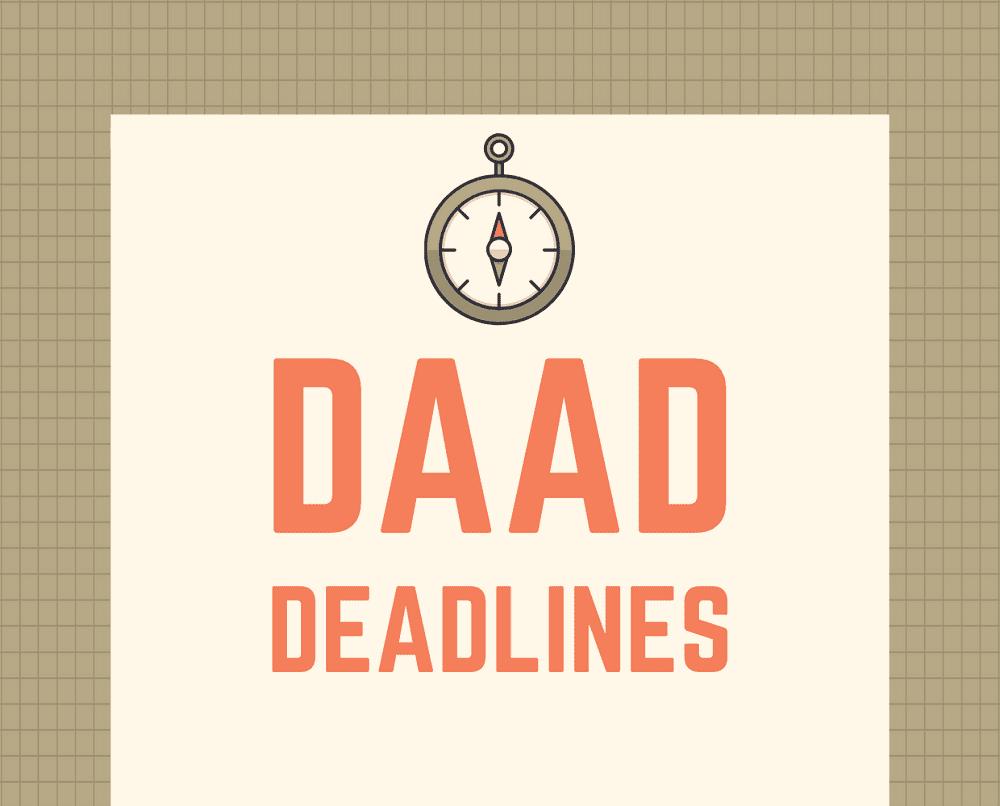 List of DAAD Scholarship Application Deadlines (2020-2021)