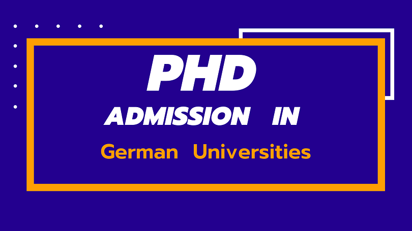 PhD Admission Requirements of all German Universities for international Students